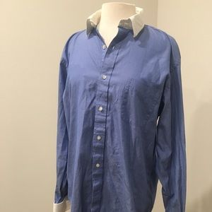 Lands End Supima Pinpoint Oxford Button Down Shirt